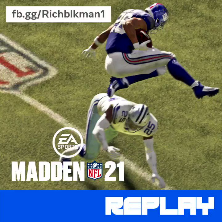 From pass man to lurk man @richblkman1 is a man of many talents. Here's just some of his many @EAMaddenNFL highlights.