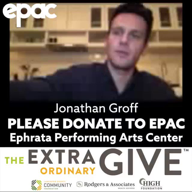 Jonathan Groff supports Ephrata Performing Arts Center for the 2020 #ExtraGive: extragive.org/organizations/… 🎥: facebook.com/epactheater/vi…