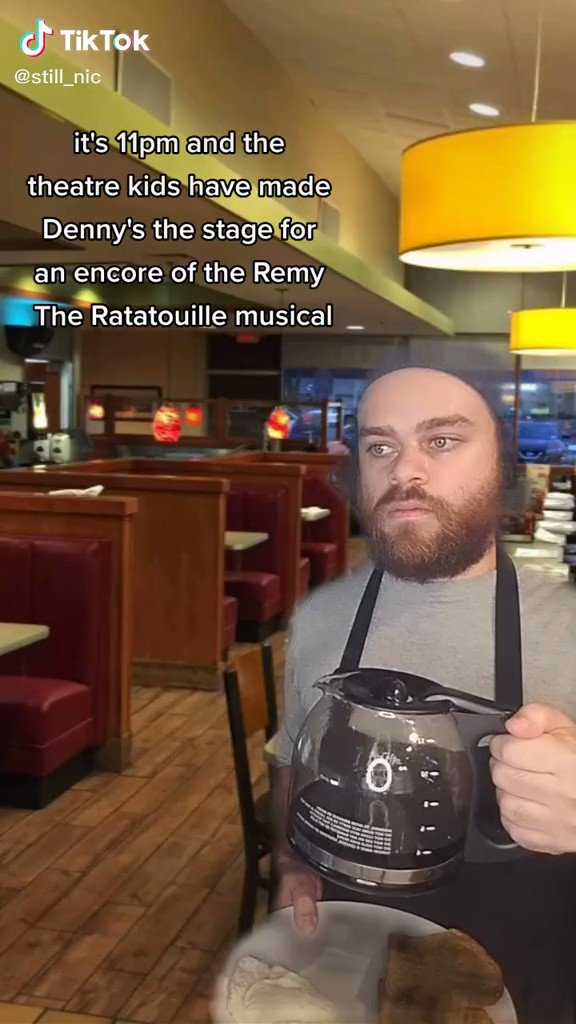 Every video in the #ratatouillethemusical thread was wonderful but this one made me laugh extra hard.