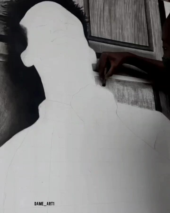 Working on a new piece 😊 Are you ready? . Background music; carry your thrown by @jonbellion . #WeAreNigerianCreatives #blackartistspace  #artistsontwitter #explorepage #blackcreatorsfund #contemporaryart   #expandyourcreativityafrica #artcollector