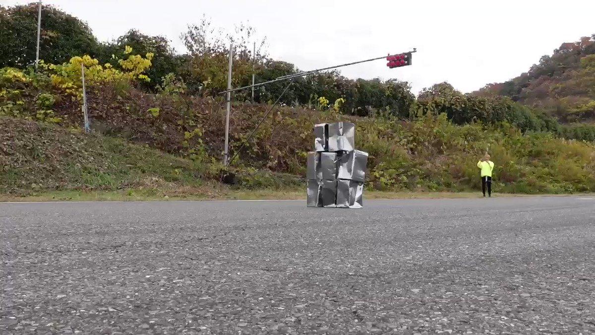時速320キロのスピード違反の衝突実験のお手伝いまたやりたいですっ☆次はマッハ目指して体当たりですっ☆ちぃたん☆ですっ☆good-by