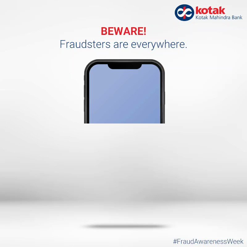 Fraudsters are watching your online activity, do not fall prey to scams. When it comes to keeping your bank details safe, taking the necessary precautions is the best step to safety.  Be careful, stay secured.    Tips to stay safe:   #FraudAwarenessWeek