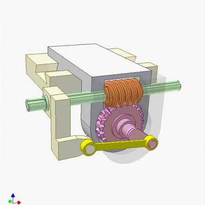 Worm Drive and Linkage Mechanism