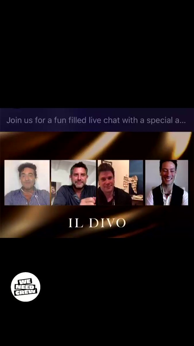 A massive thanks to @ildivo for speaking about our industry & the struggle for live events crew. We've teamed up with these wonderful guysto raise money for our cause along with @LiveNation #crewnation   👉  for details & to enter!  #IlDivo#WeNeedCrew