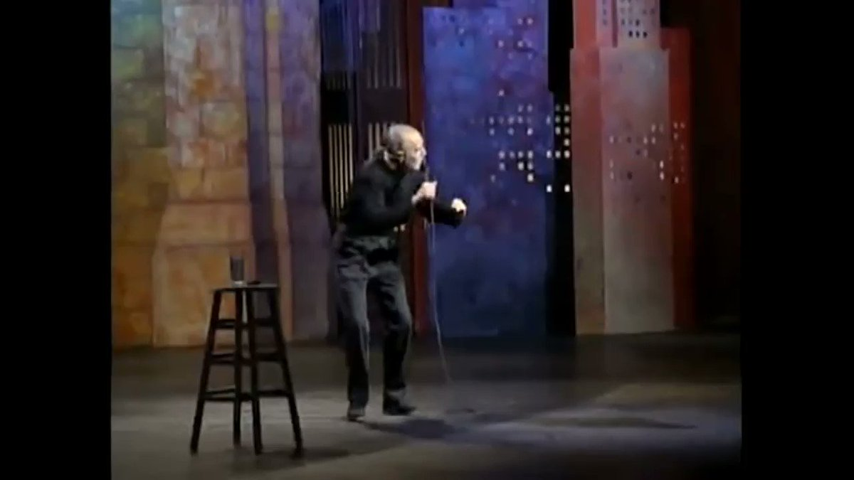 George Carlin trending b/c he would have written the best jokes for 2020? He already wrote them, 20 years ago.