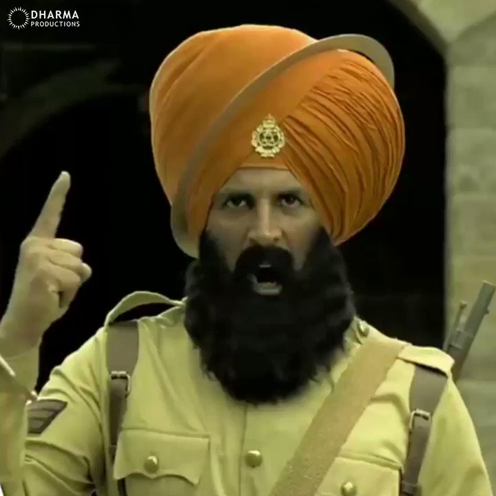 They fight to protect our land, they colour themselves #Kesari to fight for it!💪🏻 @akshaykumar
