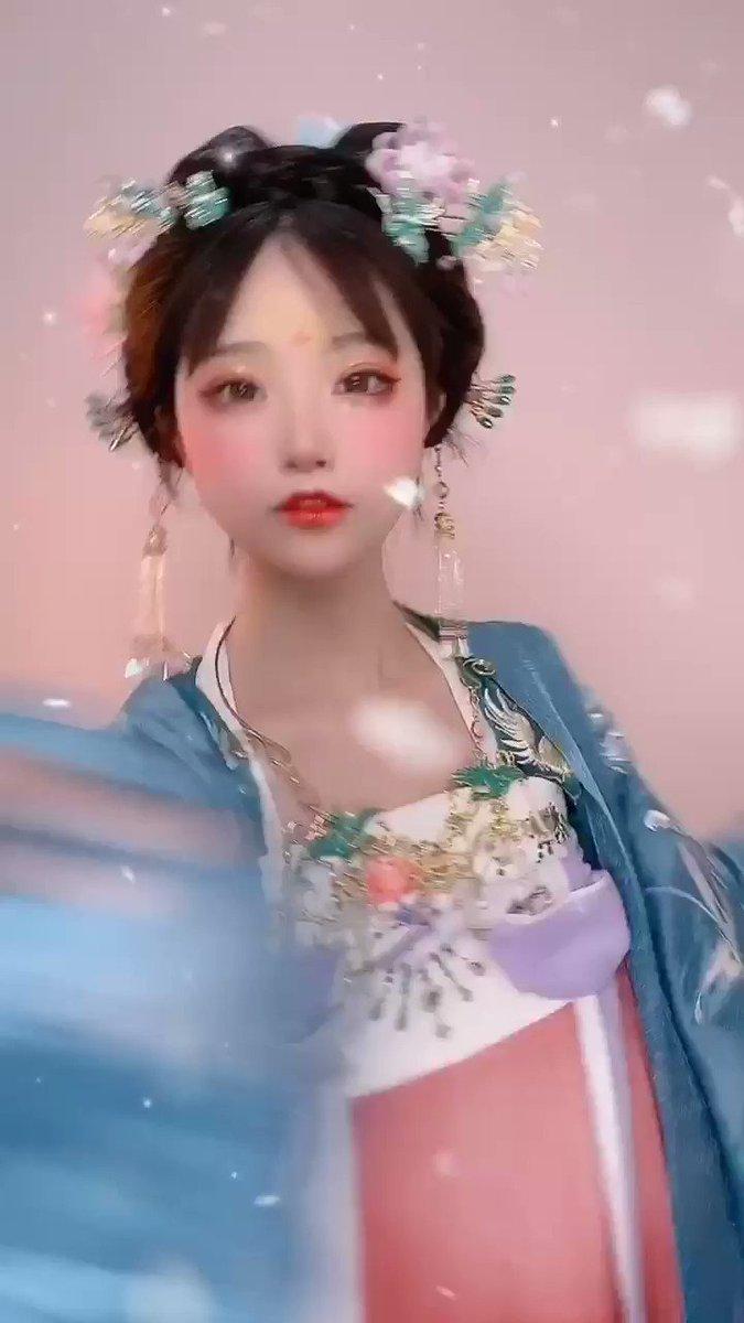 #漢服😝私は扇風機を使って飄逸感を作りました~