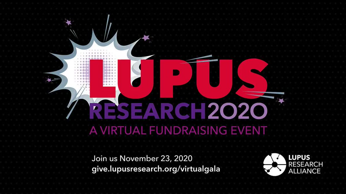 Join us at 7pm EST for our virtual fundraiser: Lupus Research 2020 honoring Jenny and Spencer Zwick, & featuring @selenagomez @ladygaga @WillieGeist @brendablackmon @normlewis777 & many more! #LupusResearchAlliance2020  Join us tonight:  Enter PIN: LRA20