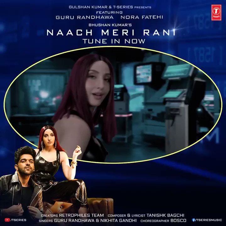 Guru Randhawa and Nora's biggest hit just became a bit more bigger. #NaachMeriRani has crossed the 150M mark on YouTube. Woohoo! Tune in now:  🎧  #BhushanKumar @GuruOfficial #NoraFatehi @tanishkbagchi @NikhitaGandhi @RETROPHILES1 @BoscoMartis #tseries