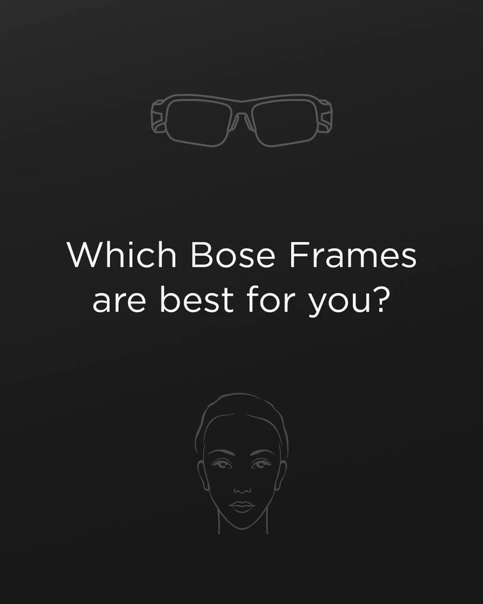 There's a #BoseFrames for every face shape. Click to find your perfect pair: 🕶️🎵