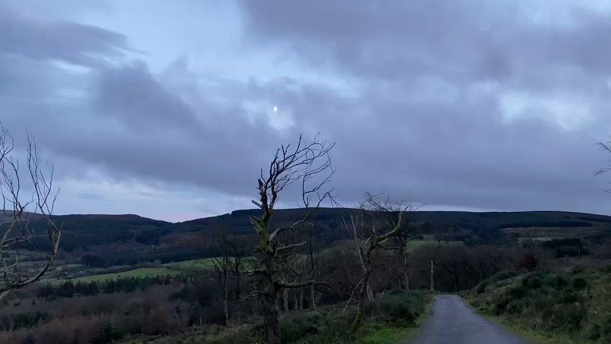 Moon peeping through over the Hellfire trail! #mondaythoughts #winterwildlife