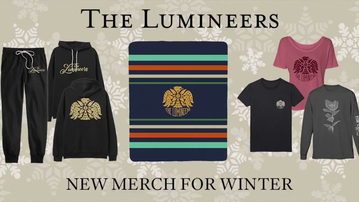 The Lumineers winter merch is here ❄️ Get yours now at: store.thelumineers.com And look for store-wide markdowns on select items, now until Nov 30 at midnight ET!