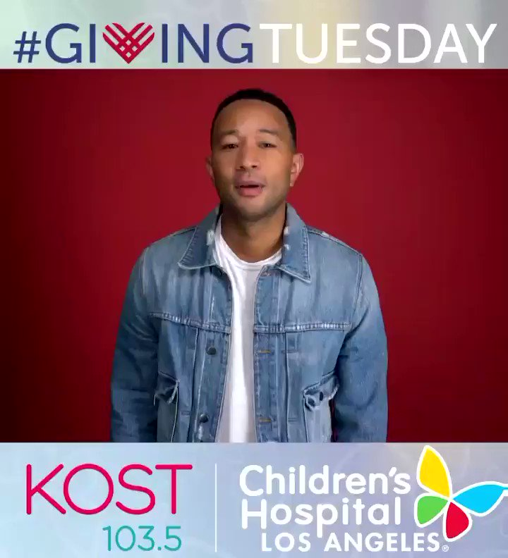 Many, many thanks to @johnlegend for helping us get the word out on #GivingTuesday! On Dec. 1st, tune in to @kost1035fm for the broadcast of a lifetime, and help save the life of a sick child: https://t.co/1k9F1XYg2K