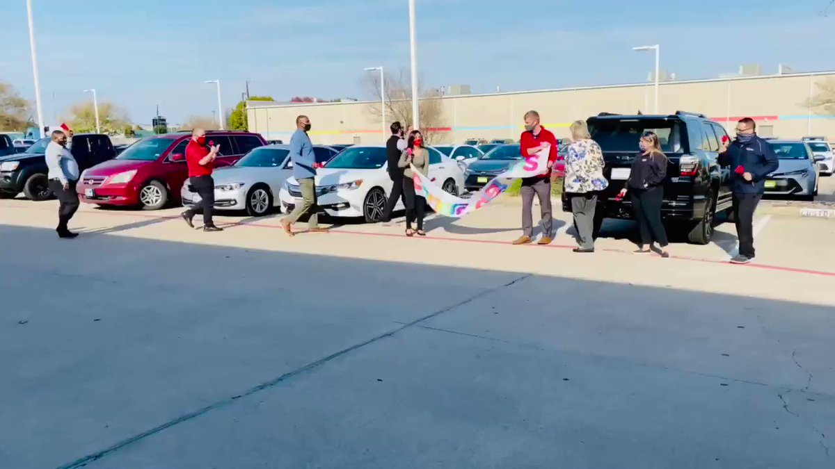 What an amazing day of celebrations! It is so hard to express the gratitude we have for all of our customers every single day. Thank you so much and welcome to the family. #Toyota #Celebrations #toyotaofrockwallcares