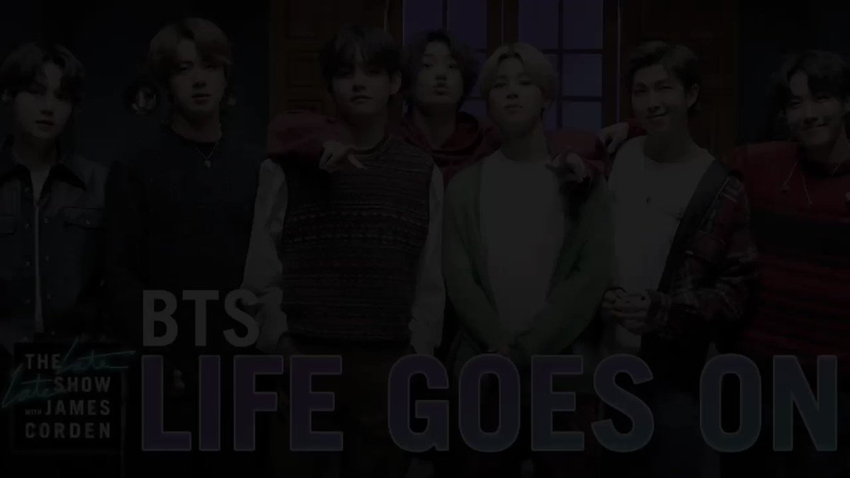 The Late Late Show with Papa Mochi 直前コメント&Life Goes On  ジンカット  The Late Late show with James Corden   #BTSxCorden  #BTS #방탄소년단  #JIN #진 #김석진 @BTS_twt
