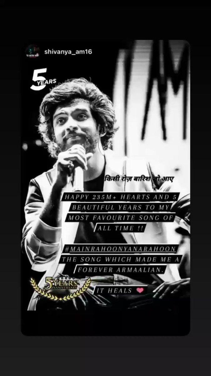 #5YearsOfMRYNR   ||@AmaalMallik 's Instagram story ||  #AmaalMallik #RashmiVirag @ArmaanMalik22