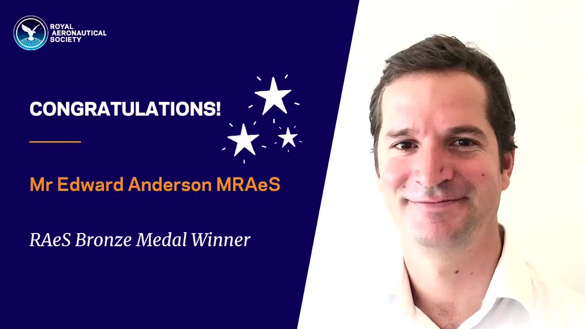 Congratulations! RAeS Bronze Medal Winner Mr Edward Anderson MRAeS, for his work to demonstrate the transformative potential of unmanned aerial systems (UAS) in East Africa.