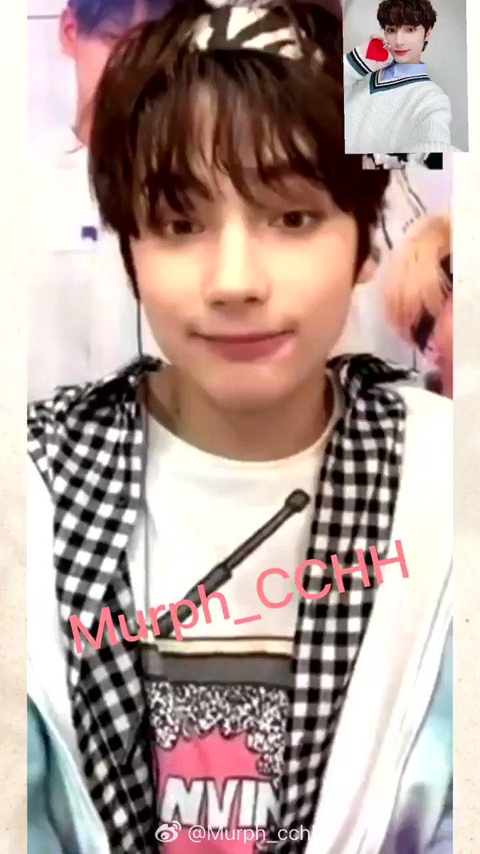 201124 영통팬싸 #휴닝카이 © Murph_cchh  👤 : you signed my name wrongly last time~ ❤️ : really~? where where? 👤 : here~ T__T ❤️ : ahh sorry~~ i'll get it right this time!!