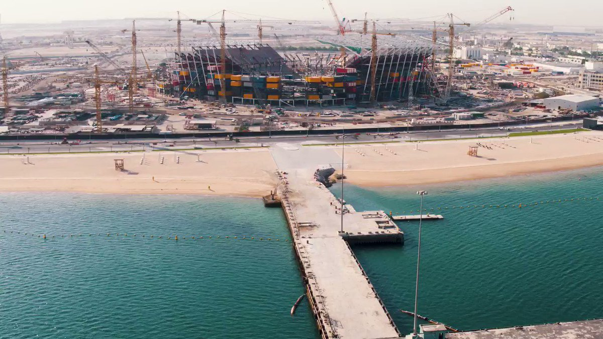 The stadiums for #Qatar2022 @FIFAWorldCup have been specially designed to be utilized long after the tournaments have ended. That is why we will be donating parts of the stadiums to countries around the world that lack sports infrastructure. #2YearsToGo @roadto2022