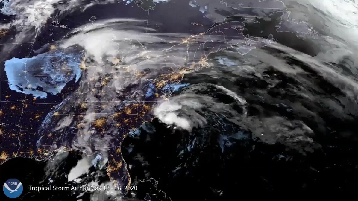 Just in: For #TimelapseTuesday, here's the record-breaking 2020 Atlantic #hurricane season from @NOAA's #GOESEast 🛰️.   The season had 30 named storms—from #Arthur to #Iota— five of which hit Louisiana. It was also the record fifth consecutive above-normal season.