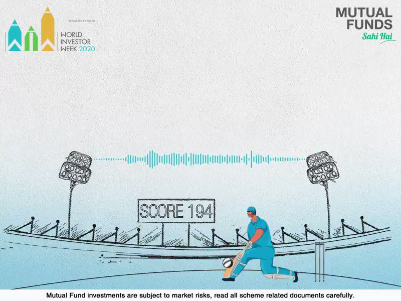 Being resilient is key to countering volatility, in Cricket as well as Mutual Fund investments. Learn more at . #WorldInvestorWeek #MutualFundsSahiHai