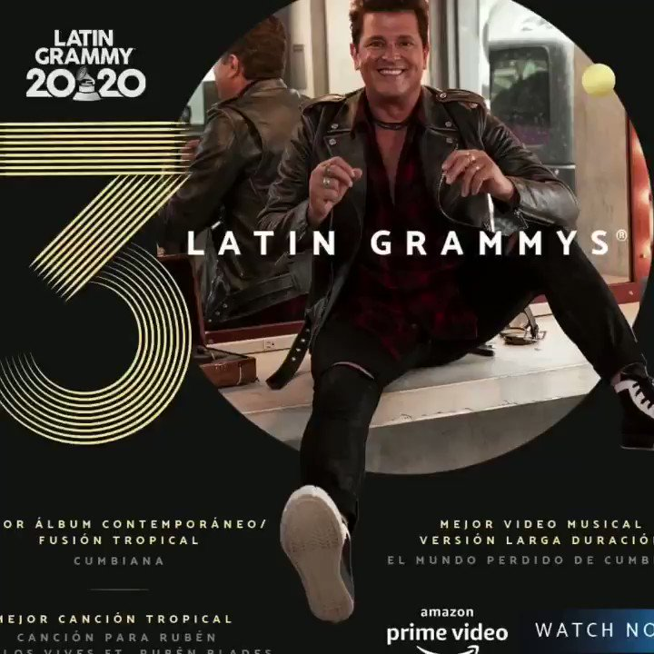 We are very happy for the latin grammys that @carlosvives won 🤩 How many times have you seen #Cumbiana's video? 💃🏻🕺🏻 #CumbianaSomosTodos #CarlosVives #LatinGrammy #Winner
