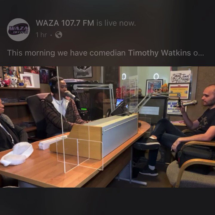 """Comedian """" Timothy Watkins """" Live interview on #SippInTheMorning with @realkrisjamez & @stori_by_ori  . . . #comedy #Comedian #funny #Entertainment #jokes #standup #Memes #laugh #LaunchAmerica"""