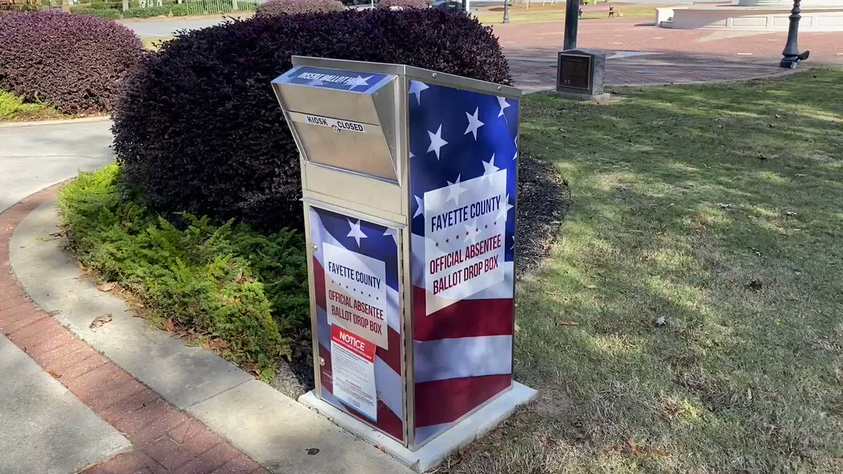 Georgia: I learned on the @GaSecofState zoom call yesterday that all the ballot drop boxes are monitored by video cameras. The footage is stored for 30 days & is available to the public upon request. @RealAmVoice