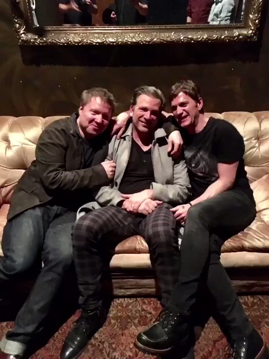 "Here I am sandwiched between the brilliant @mattymay who was a one-man band on many of the songs on my new album, and to my left is one of my true heroes, @ThisIsRobThomas who co-wrote this song off the new one with me..it's called ""Clear"".(tune in Fri/Sat for my next livestream."