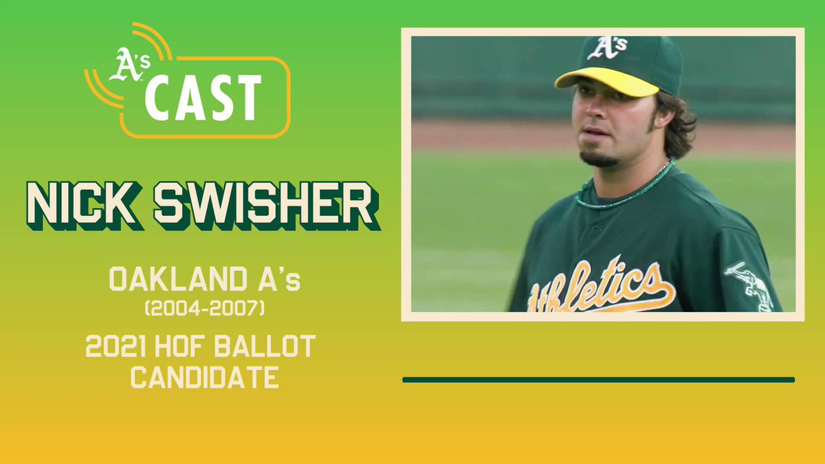 Things we're thankful for: Nick Swisher's laughter. The A's alum joined @athleticscast24 to give us his reaction to seeing his name on the 2021 HOF Ballot. 🎧 athletics.com/podcasts