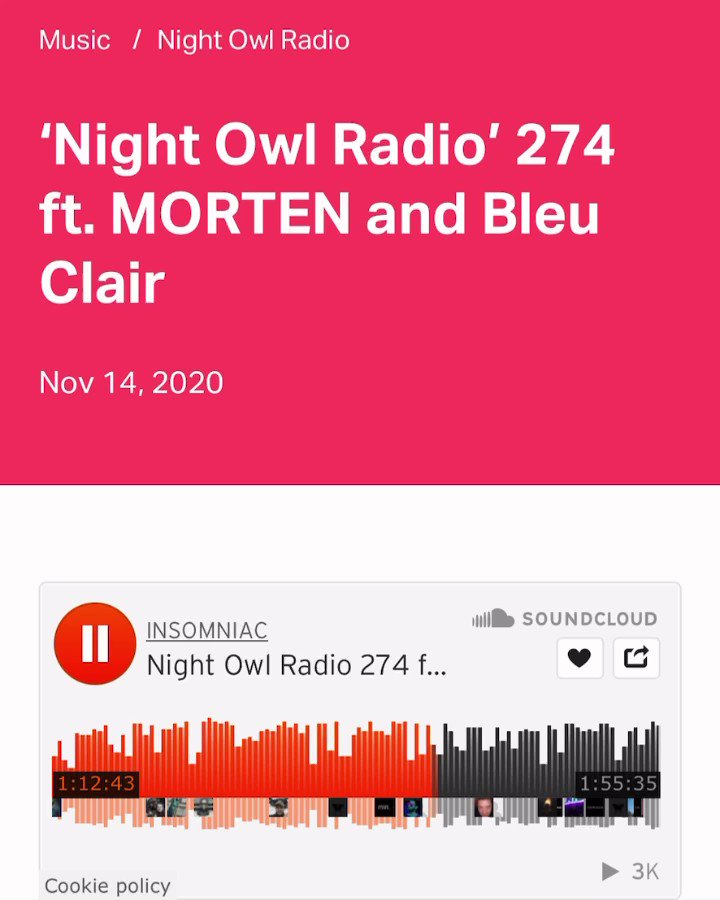 this is so sick! @mortenofficial chose my record 'rise' as his warm up track for his guest mix on @PasqualeRotella @insomniacevents podcast 😱😱😱