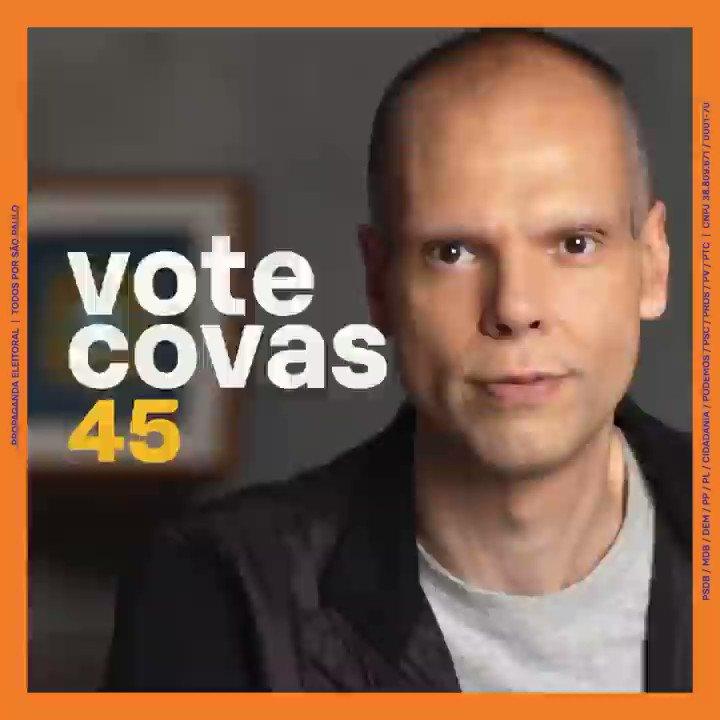 #VOTE45 - Chegamos à reta final da campanha, na Capital paulista. Faltam apenas cinco dias para deixarmos São Paulo em boas mãos. Num momento pós-pandemia, a experiência nunca fez tanta diferença. Neste dia 29, vote @brunocovas . VOTE 45. 🗳