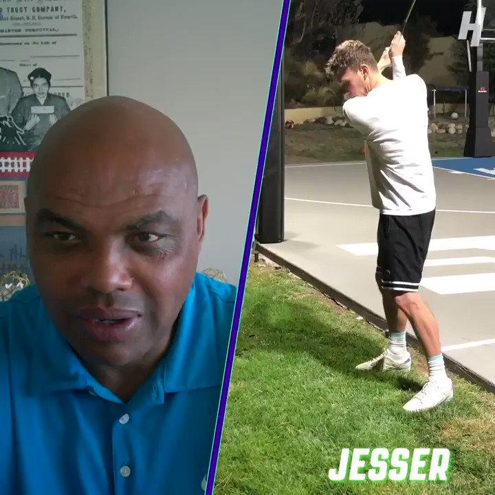 """I was very impressed.""  Charles Barkley is a big fan of @Jesser's swing. ⛳️ https://t.co/EYGL0CODAY"