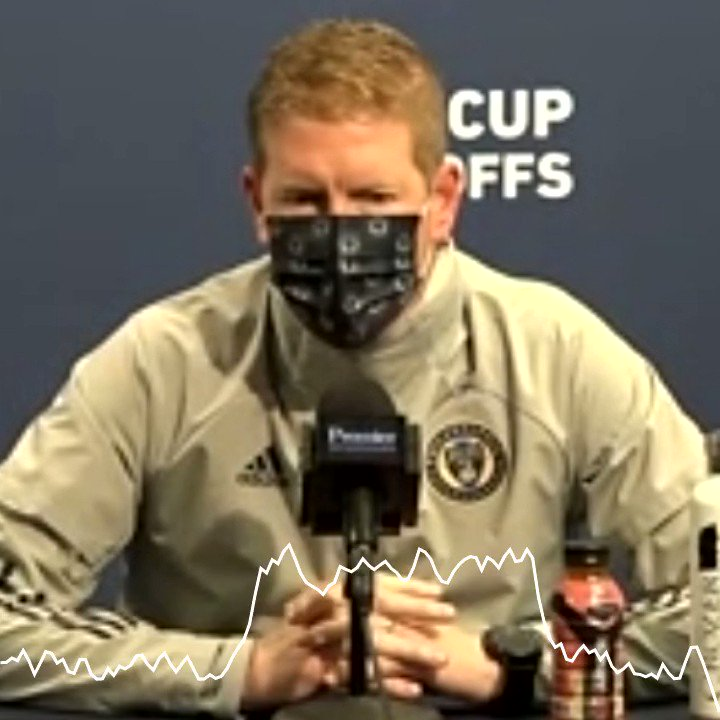 Did the 2-week layoff have an effect on how they played in the first half and overall how they looked in the loss to New England  I asked @PhilaUnion Coach Jim Curtin about that   #DOOP #MLSCupPlayoffs #PHIvNE