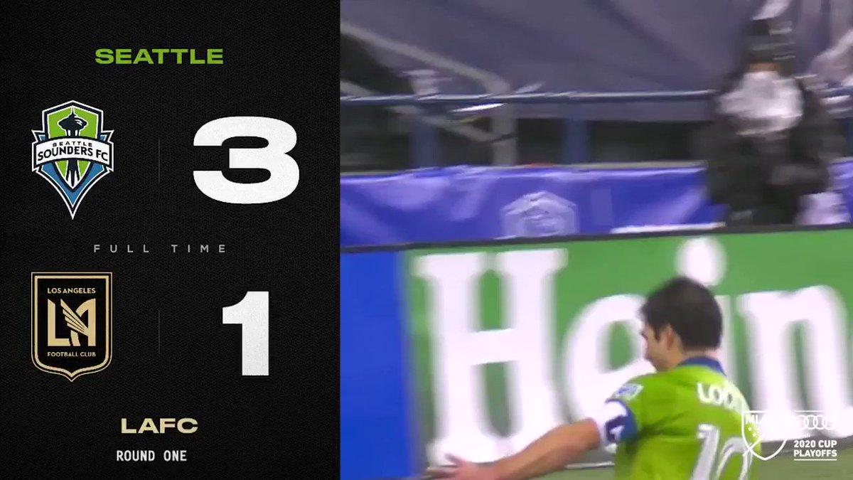 FT: @SoundersFC 🤝 Postseason Ws  Seattle advance to the conference semifinals!  #SEAvLAFC // @Audi #MLSCupPlayoffs