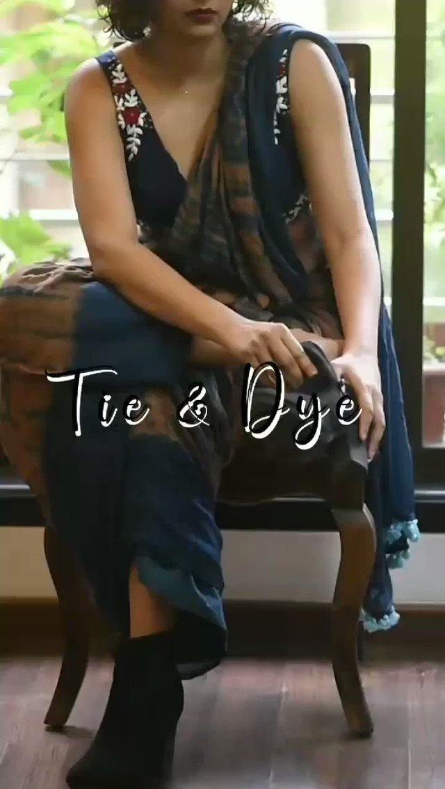 Tie and dye is an ancient resist-dyeing technique that involves tying the fabric into knots, pleats or folds and then immersing the fabric into the dye to create unique patterns of design.  #Suta #sarees #blouses #tieanddye #MakeInIndia  #ShopLocal #Video #NEW #wednesdaythought
