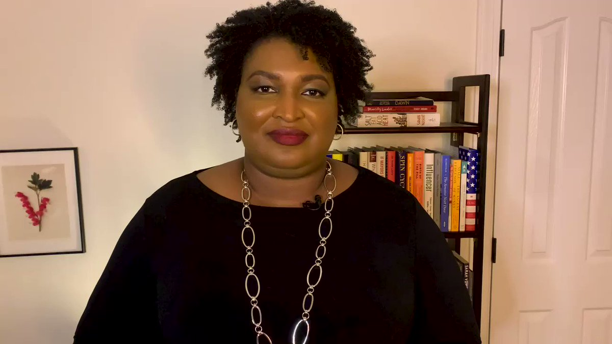 GA's @staceyabrams understands voting is healthy. She also knows the best way to stay healthy and support Grady's frontline workers in the battle against #COVID is to get your #flu shot. We approve this message!  Need info on getting a flu shot, visit
