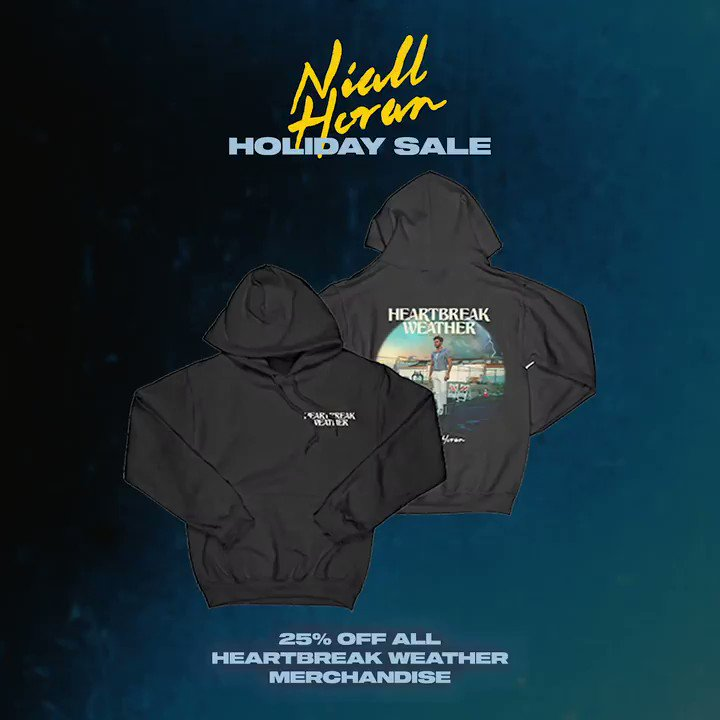 All Heartbreak Weather merch is on sale for the next couple days . Make sure to grab it while you can !