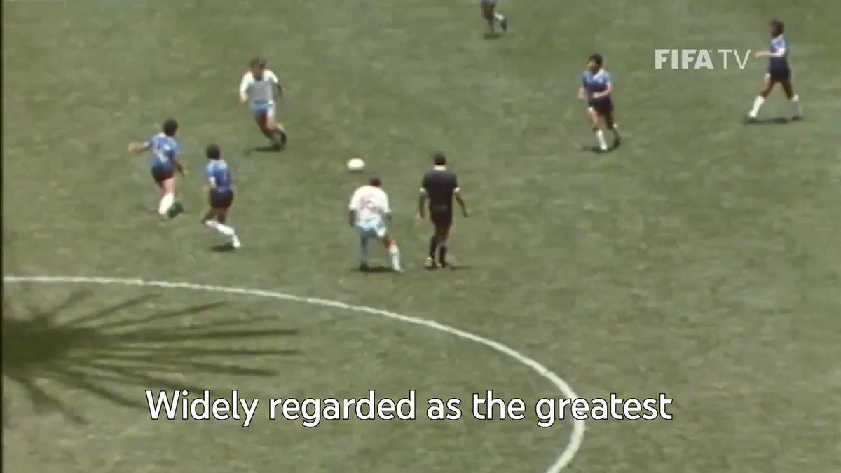 Simply one of the greatest sportsmen of all time. RIP Diego Armando Maradona →