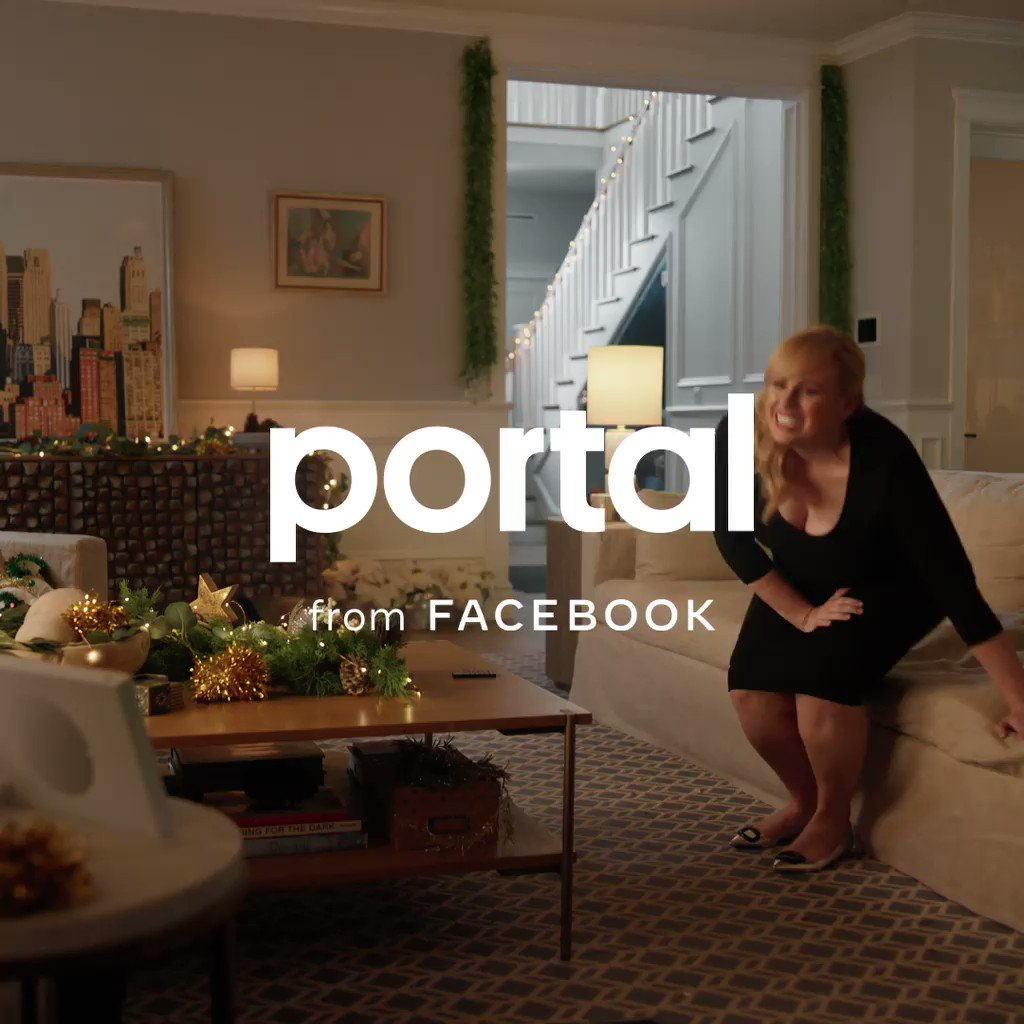 .@RebelWilson's moves were made for sharing. And she does love sharing them. Give everyone the gift of you, no matter where you are, with Zoom video calls on Portal. 💃 #PortalTraditions