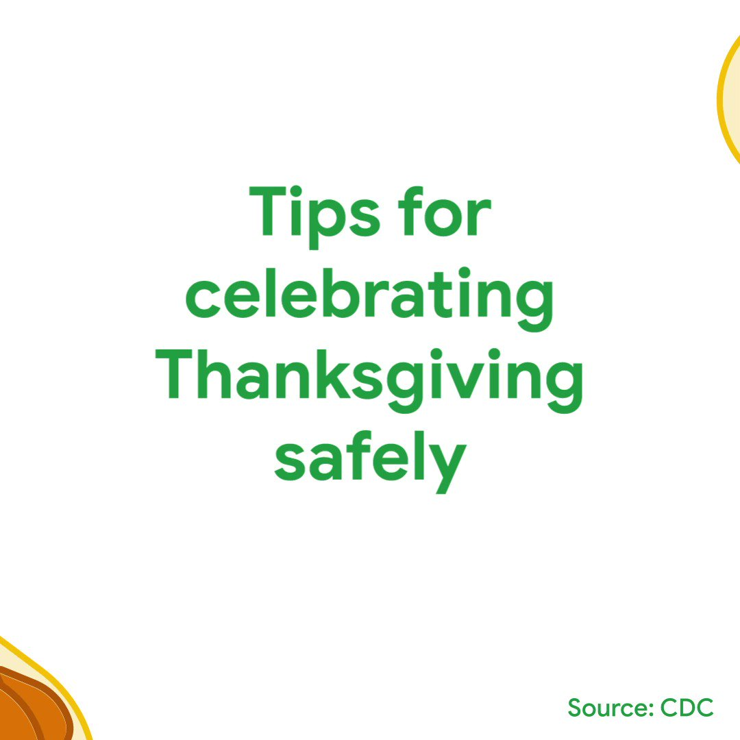 As families find creative ways to spend Thanksgiving in 2020, see how Dr. Karen DeSalvo, Google Health's chief health officer, will be spending her holiday. Plus, get tips from the CDC for celebrating safely →  🍂