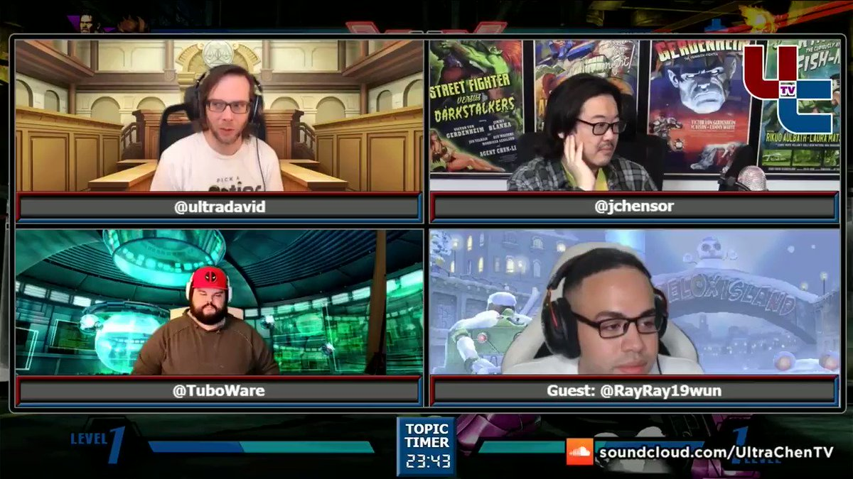 UltraChenTV - On this Tuesday Show, we talked about Twitch Rivals Marvel Lives with guest @RayRay19wun, Nintendo & #FreeMelee, the last CPT & Capcom Cup community voting, free to play fighting games, & more  YouTube  Soundcloud   Ray ❤️️ Marvel 3