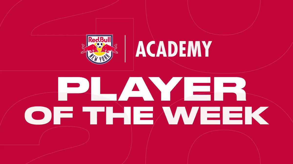 Presenting the Player of the Week!  #TheFutureIsBright | #RBNY