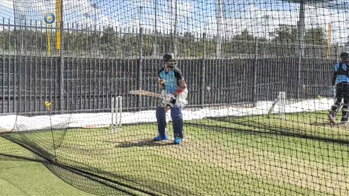 Timing them to perfection! 👌👌  #TeamIndia skipper @imVkohli getting batting ready ahead of the first ODI against Australia 💪🏻🔝   #AUSvIND