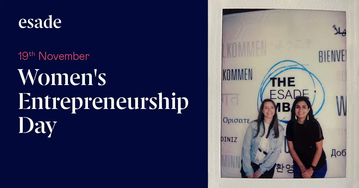👩💼 Last week we celebrated Women's Entrepreneurship Day  A great example of this are our #theEsadeMBA alumni @dafnihnd and Tanya Sharma, who worked on many projects together and this year, they founded Wonderpath, a learning app for soft skills master.  👉