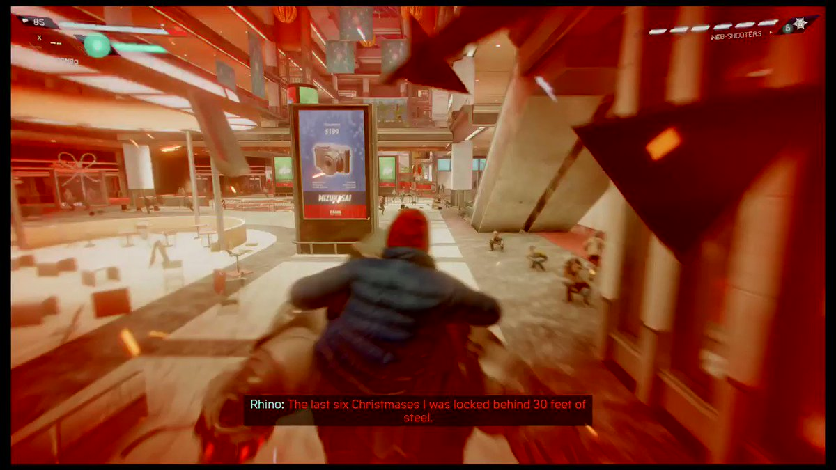 J Jonah Jameson as #santa! This game rocks! #Rhino #Spiderman #MilesMorales #MORETHANAGAME #PS4share