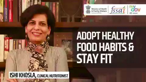 #Unite2FightCorona   Ishi Khosla, Renowned Nutritionist shares some tips to stay healthy during #COVID19 💪  #PIBKochi @COVIDNewsByMIB @GMSRailway @BSF_India @NACOINDIA @DDNewsMalayalam @airnews_tvm @CISFHQrs  @CRPF_sector @KirenRijiju @fssaiindia