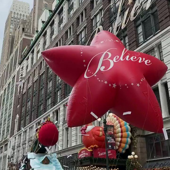 Happy Thanksgiving, everyone. We're thankful for everyone who made this year's re-imagined #MacysParade possible. #MacysBelieve