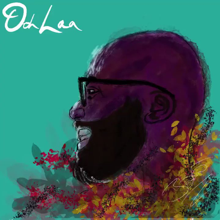 """Copied the #biggerlove album cover for my my #oohlaa cover. Slapped the song over the time lapse screen record and I can carry on the fun for other day. I might get '""""I love this arrangement"""" - John Legend' tatted on my nose. I'm still gassed!"""