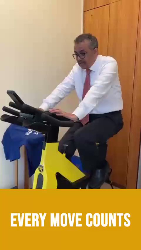 Every move counts, especially as we manage the #COVID19 constraints. It's important to find a way to move every day, safely & creatively. For example, I walk around or ride a stationary bike in the office while I'm on calls. You can try, too. Just #BeActive!